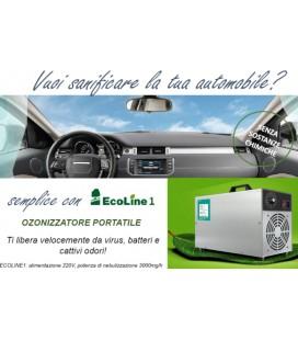 Ozonizzatore portatile per sanificare auto e ambienti