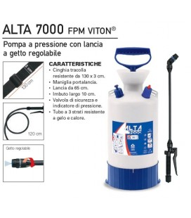 Pompa a pressione con lancia a getto regolabile ALTA 7000