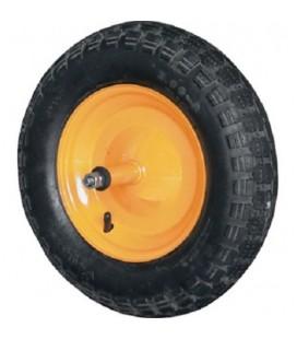 Kit pneumatico carriola 3.50-8 4 tele giallo mozzo