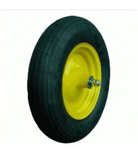 Kit pneumatico carriola 3.50-8 2 tele giallo mozzo