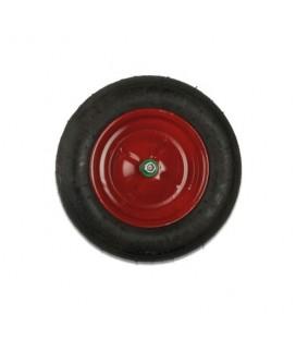 Kit ruota piena carriola 3.50-8 rosso cuscinetti