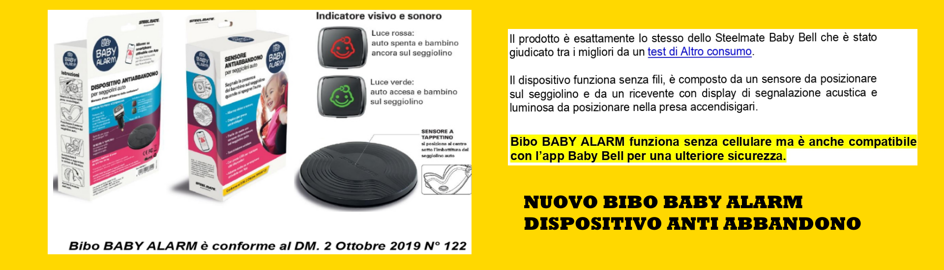 Dispositivo baby anti abbandono